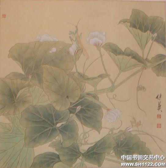 傅继英-牵牛花-淘宝-名人字画-中国书画服务中心