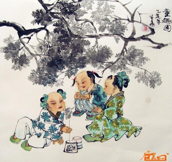 名家 金惠华 人物 - 童趣图图片