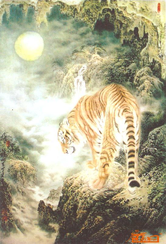 国画 - 上山虎