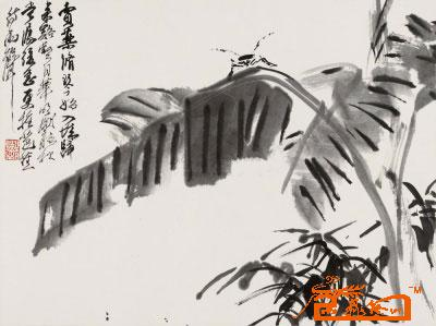 九鼎艺术精品-芭蕉草虫-淘宝-名人字画-中国书画交