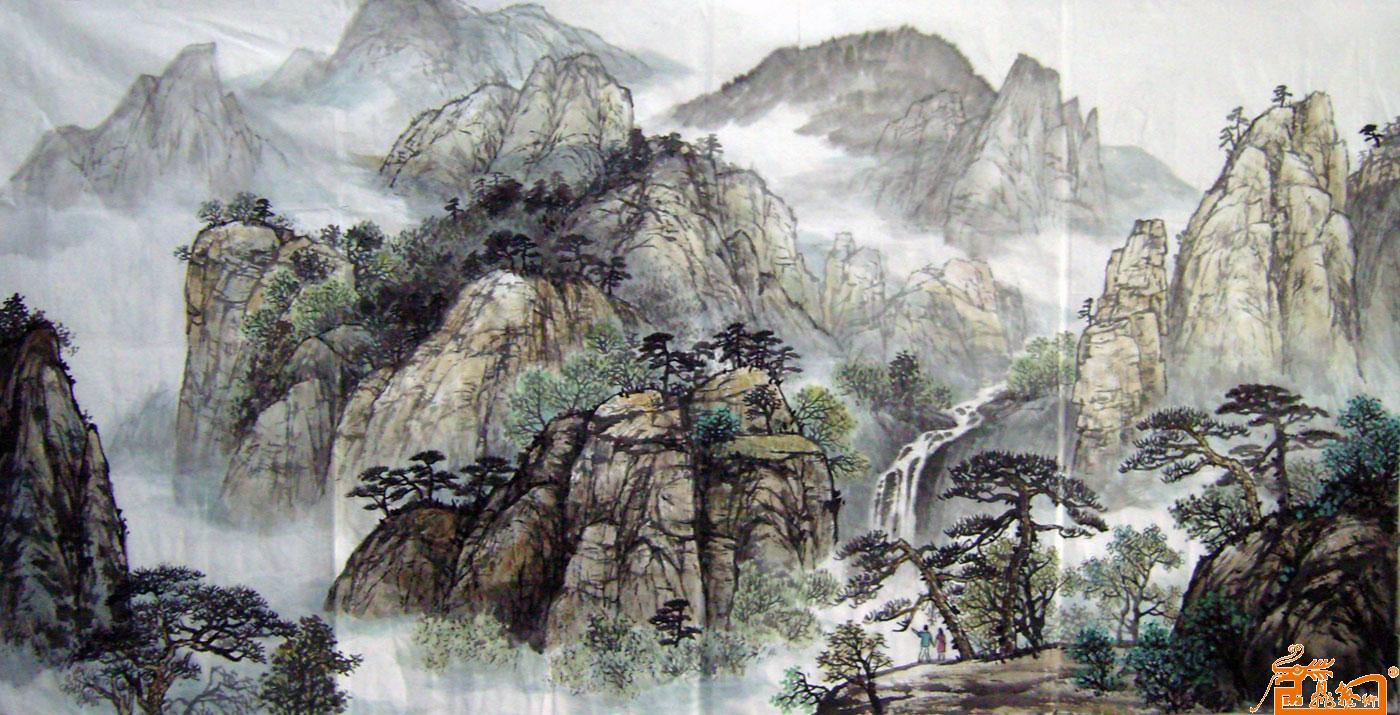 用铅笔画的著名山水画