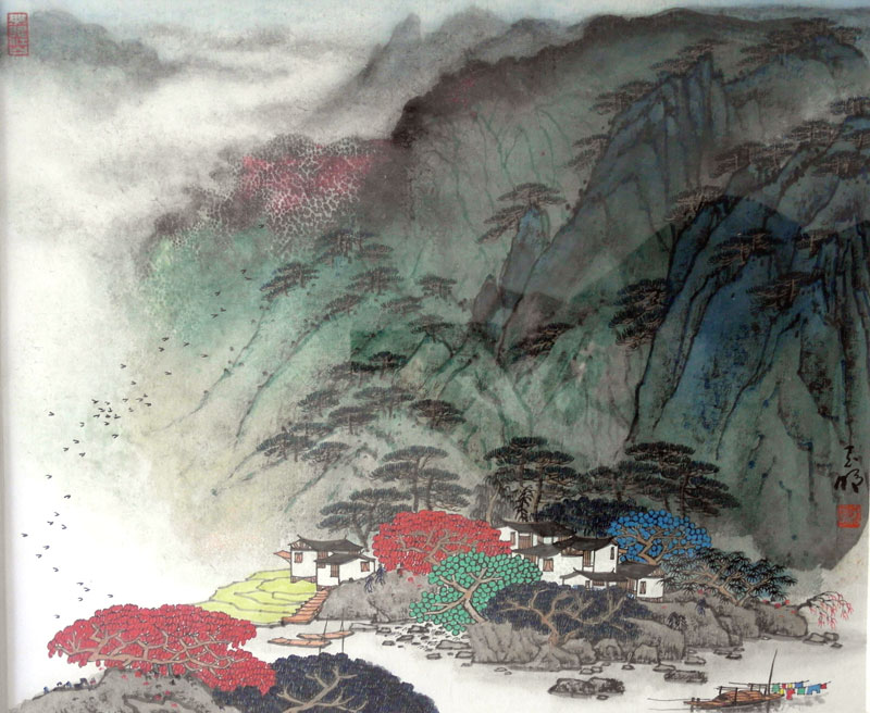 青綠山水 - 中國著名美術館 中國名人畫廊國際藝術畫廊作品交易平臺