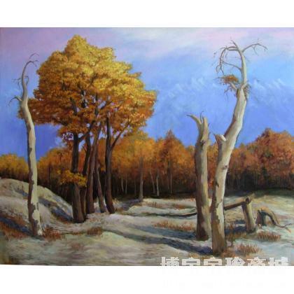 胡杨 类别: 风景油画