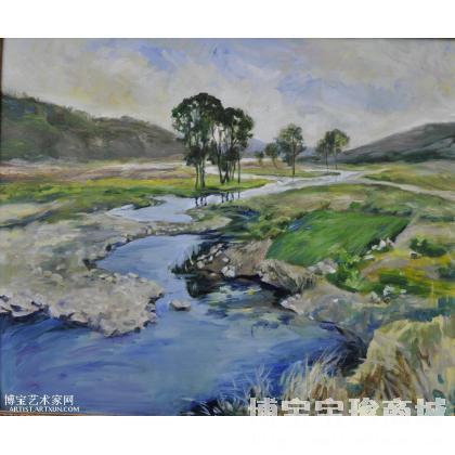 李是锦 河谷 类别: 风景油画 当前   位粉丝喜爱本幅作品 印象分