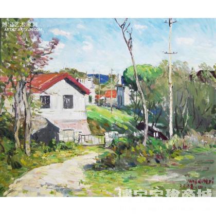 山东长山岛油画风景写生,(低价为5万人民币)