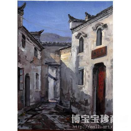 解玉宝作品安徽查济古镇3 类别: 风景油画