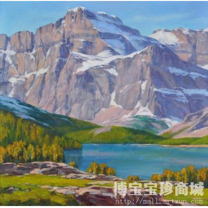 冯斌 国外雪山风景之一 类别: 油画x