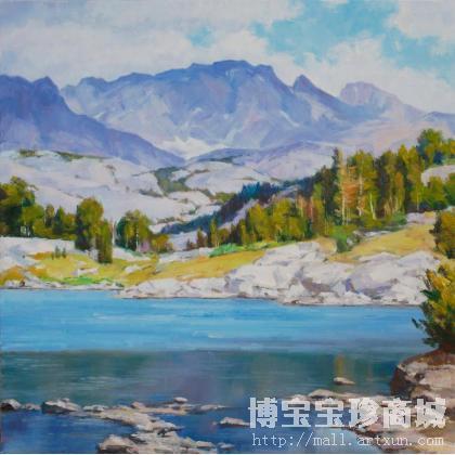 冯斌-冯斌 国外雪山风景之三 类别: 油画x-淘宝-名人
