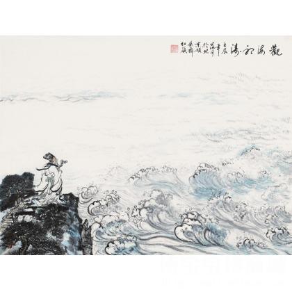 苏红岭 《观海听涛》 国画山水 类别: 国画山水作品