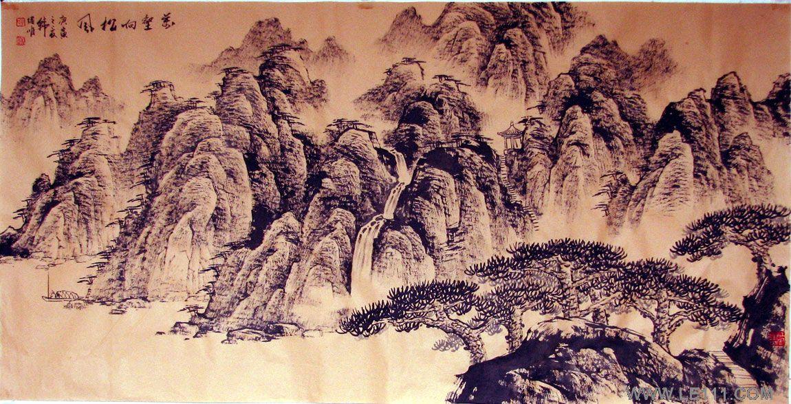 绘画 国画 山水画 名家 韩绪顺国际艺术席位作品交易平台