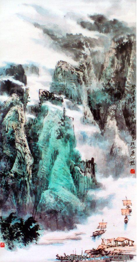 自幼跟随其父,桂林山水画奠基人叶侣梅先生习画.