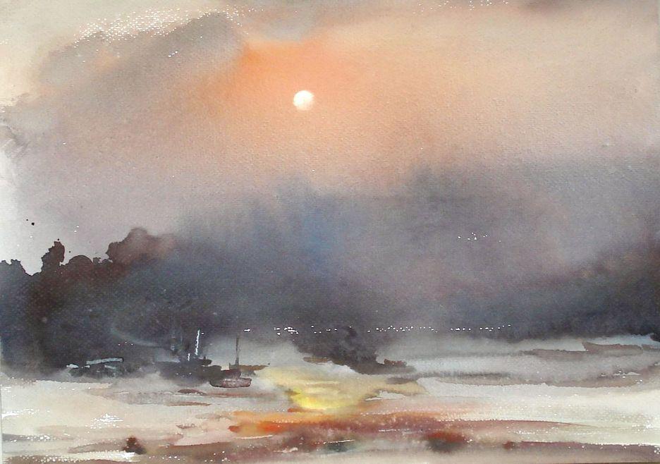 绘画 水彩画 名家 鹿全福国际艺术席位作品交易平台