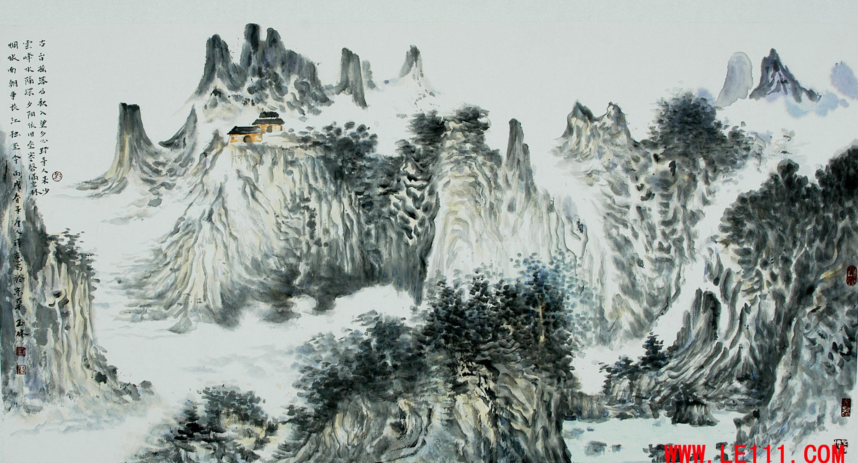 """名家 刘玉林 绘画 国画 山水画 - 刘玉林的作品""""作品24"""""""