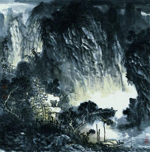 绘画 国画 山水画 名家 洪潮国际艺术席位作品交易平台