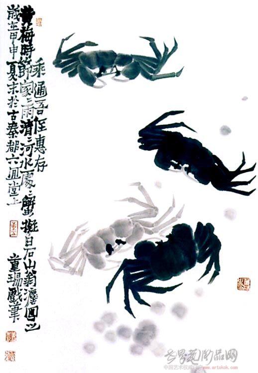 董扬-水墨螃蟹-淘宝-名人字画-中国书画交易中心