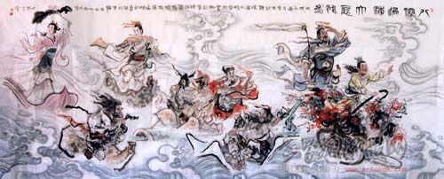 陈略-八仙过海-淘宝-名人字画-中国书画交易中心,中国