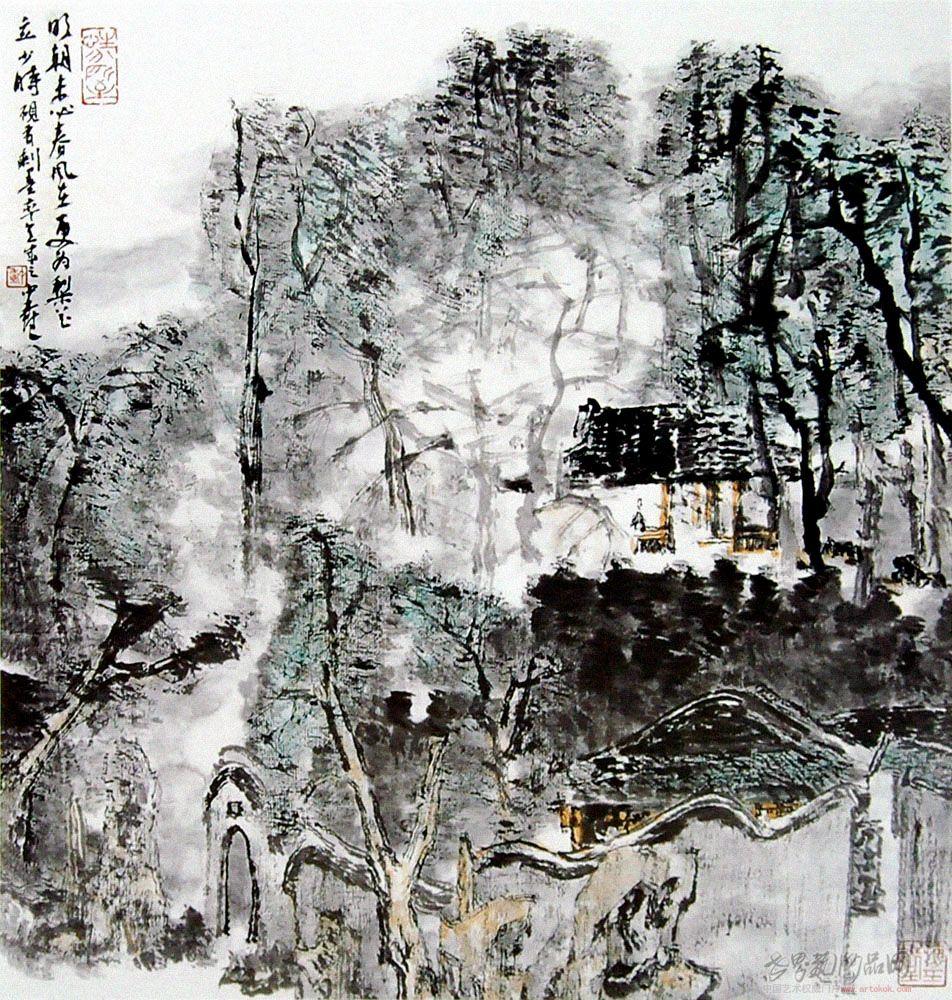 童中焘-园林-淘宝-名人字画-中国书画交易中心,中国,.
