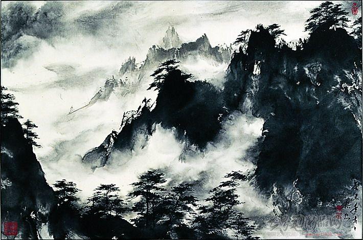 王乐知-水墨黄山-淘宝-名人字画-中国书画交易中心