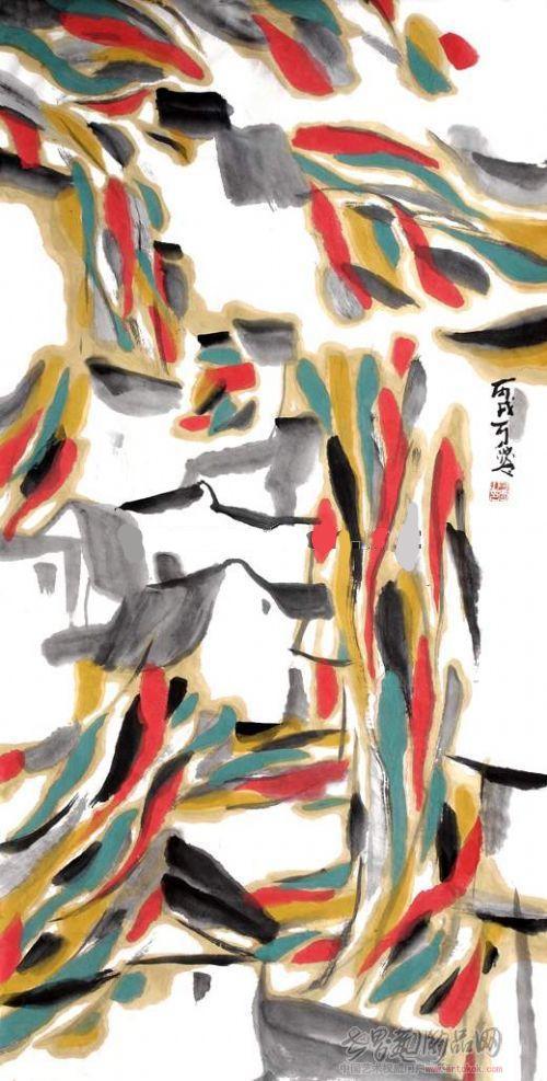 国画 名家 陈可爱国际艺术席位作品交易平台