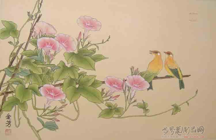 苗爱芳-喇叭花-淘宝-名人字画-中国书画交易中心
