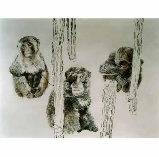 国画猴子步骤图片大全