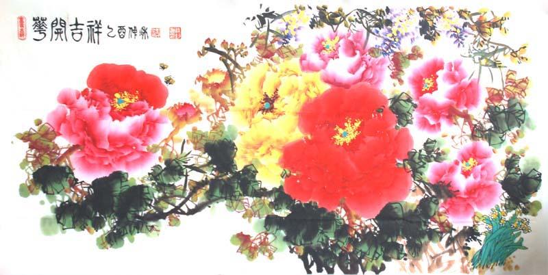 谢纯钧-国画牡丹-淘宝-名人字画-中国书画交易中心,,.
