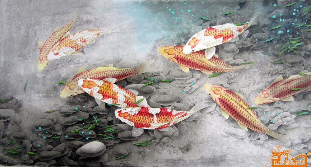 鲤鱼美术设计图